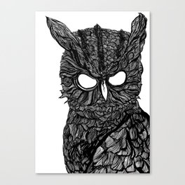 Demon Owl Canvas Print
