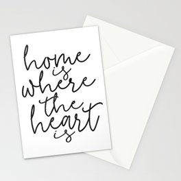 HOME SWEET HOME, Home Is Where The Heart Is,Home Sign,Home Wall Decor,Home Quote,Motivational Quote, Stationery Cards