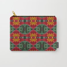 Heart of the Lily Abstract Pattern Carry-All Pouch
