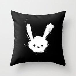 minima - splatter rabbit  Throw Pillow