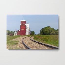 Canadian Prairies Grain Elevator Saskatchewan Metal Print
