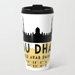 ABU DHABI UNITED ARAB EMIRATES SILHOUETTE SKYLINE MAP ART Travel Mug