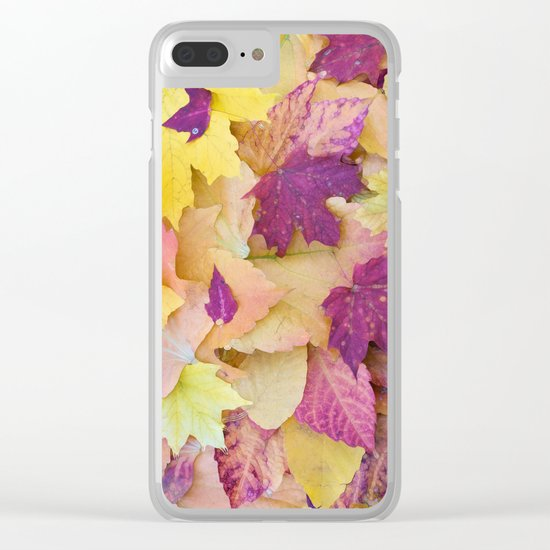 Autumn Candy Clear iPhone Case