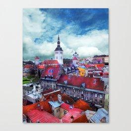 Tallinn art 3 #tallinn #city Canvas Print