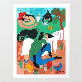 A summer fling Art Print