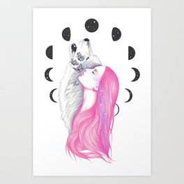 Moon Daze Art Print