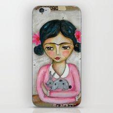 Frida Kahlo and bunny iPhone & iPod Skin