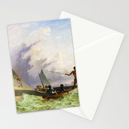 Long Boat off the Coast of Africa by Thomas Baines Stationery Cards