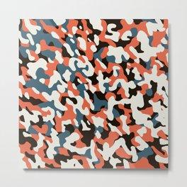 U-Bahn blobs abstract pattern Metal Print
