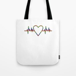 LGBT Heartbeat Lesbian Gay Gender Equality Bisexual Transgender Gift Tote Bag