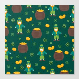 St. Patrick's Day: Leprechauns and Pots of Gold Canvas Print