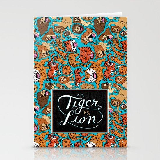 Tiger VS. Lion Stationery Cards