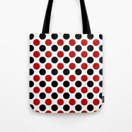 RED BLACK CIRCLE Tote Bag