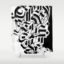 CALLIGRAPHY N°3 ZV Shower Curtain
