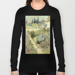 Vincent Van Gogh : Garden at Arles Long Sleeve T-shirt