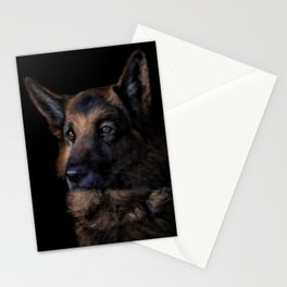German Shepherd Dog Painting Stationery Cards