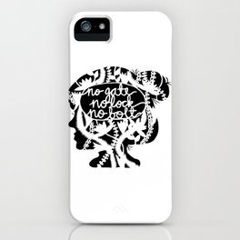 No Gate, No Lock, No Bolt in Black and White iPhone Case