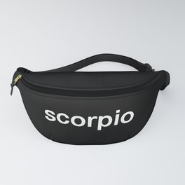 Scorpio (Black) Fanny Pack