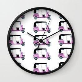 Pink tuktuk, fun design Wall Clock