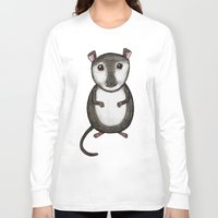 gemma correll Long Sleeve T-shirts featuring Gemma the Gerbil by Studio 8107