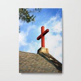 Cross Church Roof Metal Print