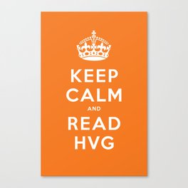 Keep calm and read HVG Canvas Print