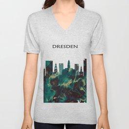 Dresden Skyline Unisex V-Neck