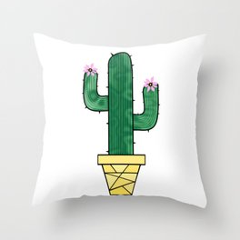 Cute And Prickly Throw Pillow