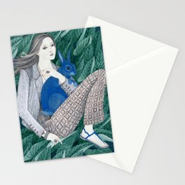 Blue Bunny Stationery Cards