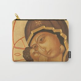 Orthodox Icon of Virgin Mary and Baby Jesus Carry-All Pouch