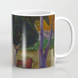 "Paul Gauguin ""Landscape with a Pig and a Horse (Hiva Oa)"" Coffee Mug"