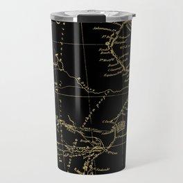 Patagonia - Black and Gold Travel Mug