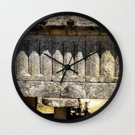 Stone shadows II Wall Clock