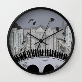 Fictional Places: Crows Wall Clock