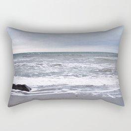 Cloudy Day on the Beach Rectangular Pillow