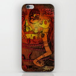 Akaname yokai licks geisha foot under Japan masks iPhone Skin