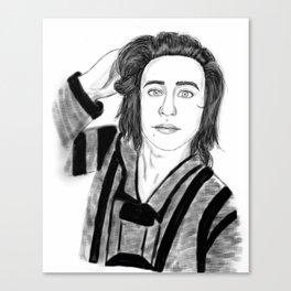 Black&white Nash Grier portrait Canvas Print