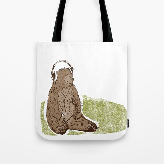Headphone Bear Tote Bag