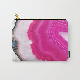Pink Agate Slice Carry-All Pouch