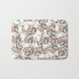 Giant money background 50 pound notes / 3D render of thousands of 50 pound notes Bath Mat