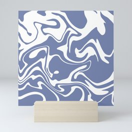 Soft Violet Liquid Marble Effect Design Mini Art Print