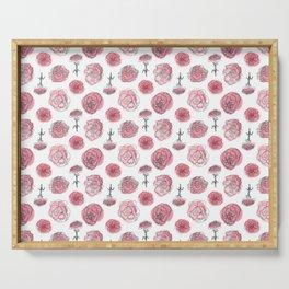 Pink Carnation Pattern Serving Tray