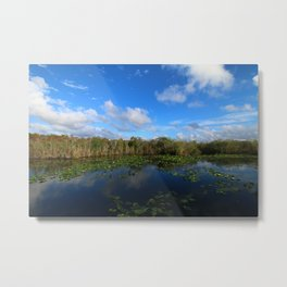 Blue Hour In The Everglades Metal Print