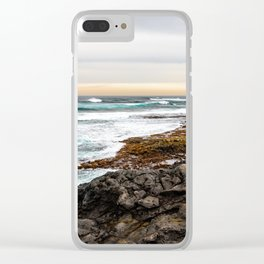 Volcanic Seascape in Fuerteventura at sunset Clear iPhone Case