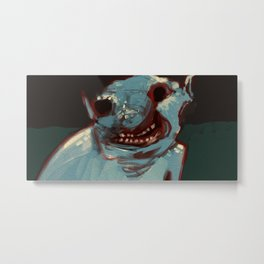 Close up troll face creature concept art illustration painting Metal Print