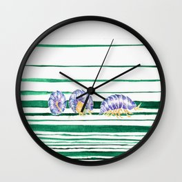 Rolling Pill Bugs Wall Clock