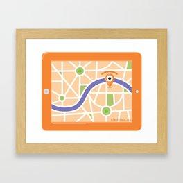 gps glance Framed Art Print