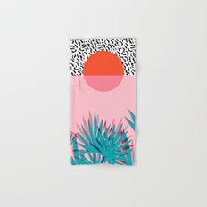 Whoa - palm sunrise southwest california palm beach sun city los angeles retro palm springs resort  Hand & Bath Towel