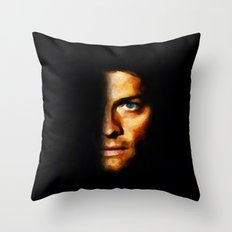 Castiel / Supernatural - Painting Style Throw Pillow