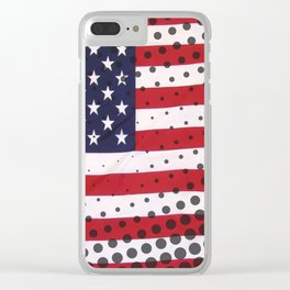 USA - American Flag Clear iPhone Case